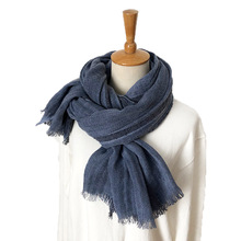 2019 New Japanese Unisex Style Winter Scarf Cotton And Linen