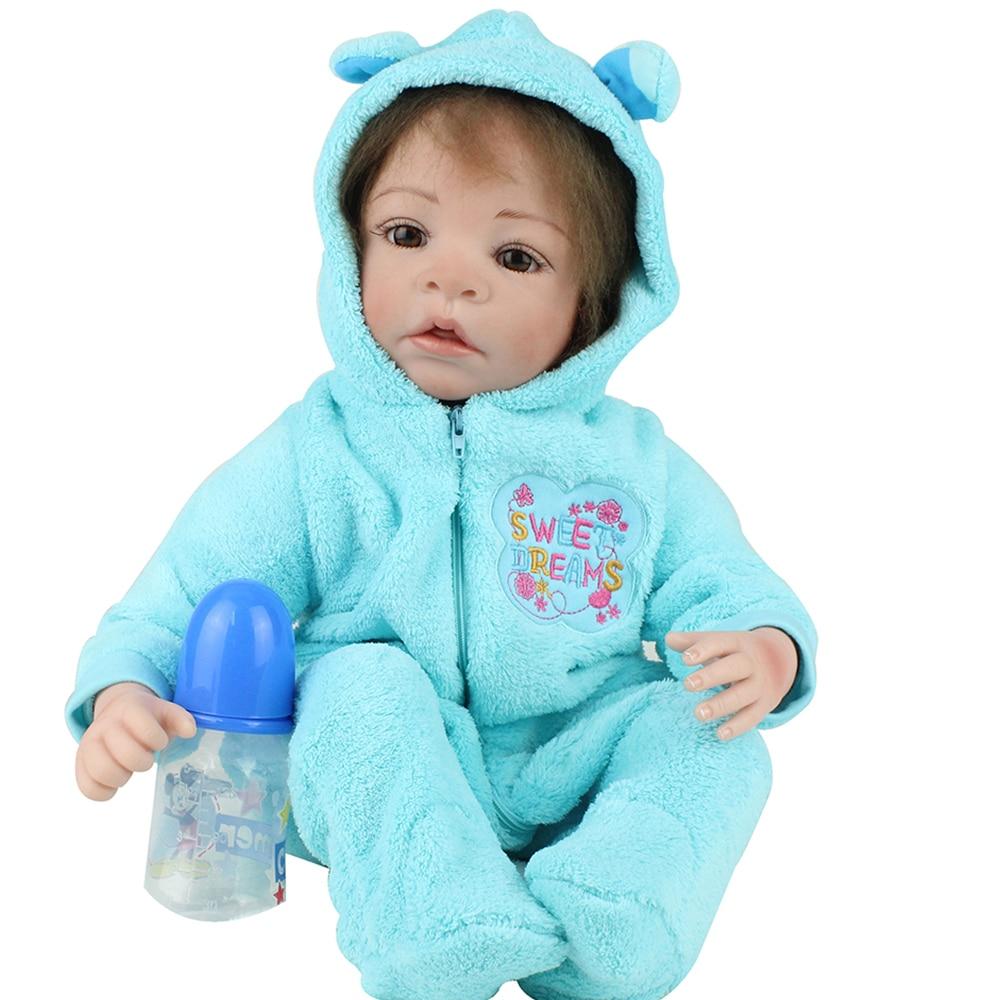 55cm Silicone Reborn bébé poupées Bebe vivant Menina bambin réaliste Boneca réaliste vraie fille poupée lol anniversaire jouer jouets NPK