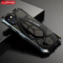 حافظة لهاتف آيفون 11 برو XS Max XR ، حافظة هاتف مدرعة معدنية LUPHIE درجة 360 درجة حماية تغطية مستديرة كاملة
