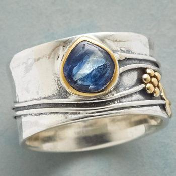 Vintage Boho Ring for Women Carved Flower Leaves Water Drop Crystal Inlaid Wide Face Finger Joint Ring Jewelry Bohemian Gift 1