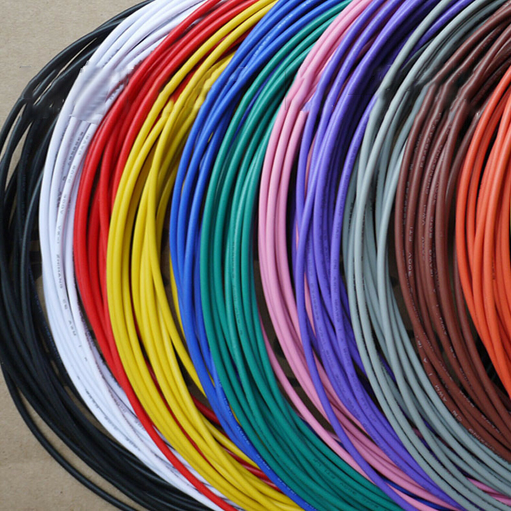 UL1571 PVC electronic wire 26AWG <font><b>28AWG</b></font> 30AWG 32AWG tinned copper wire circuit board electrical and electronic <font><b>cable</b></font> lead wire image