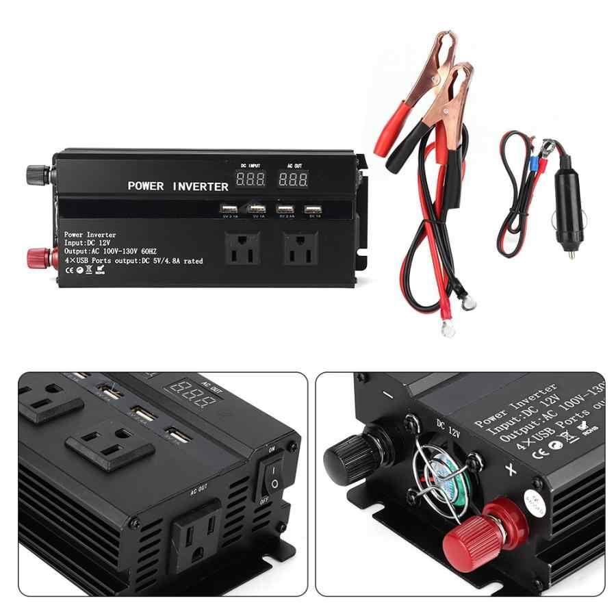 4000 ワット przetwornica 12 に 220V カーパワーインバータコンバータ液晶ディスプレイ USB ポートシガーライターポート accessoire ボアチュール