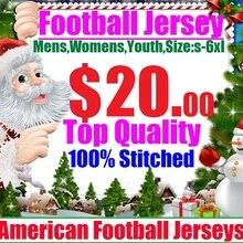 20 Горячая Распродажа, Майки для игры в американский футбол, Майки Дешевые, Аутентичные, спортивные, для колледжа, командные, цветные, для мужчин, женщин, молодых детей
