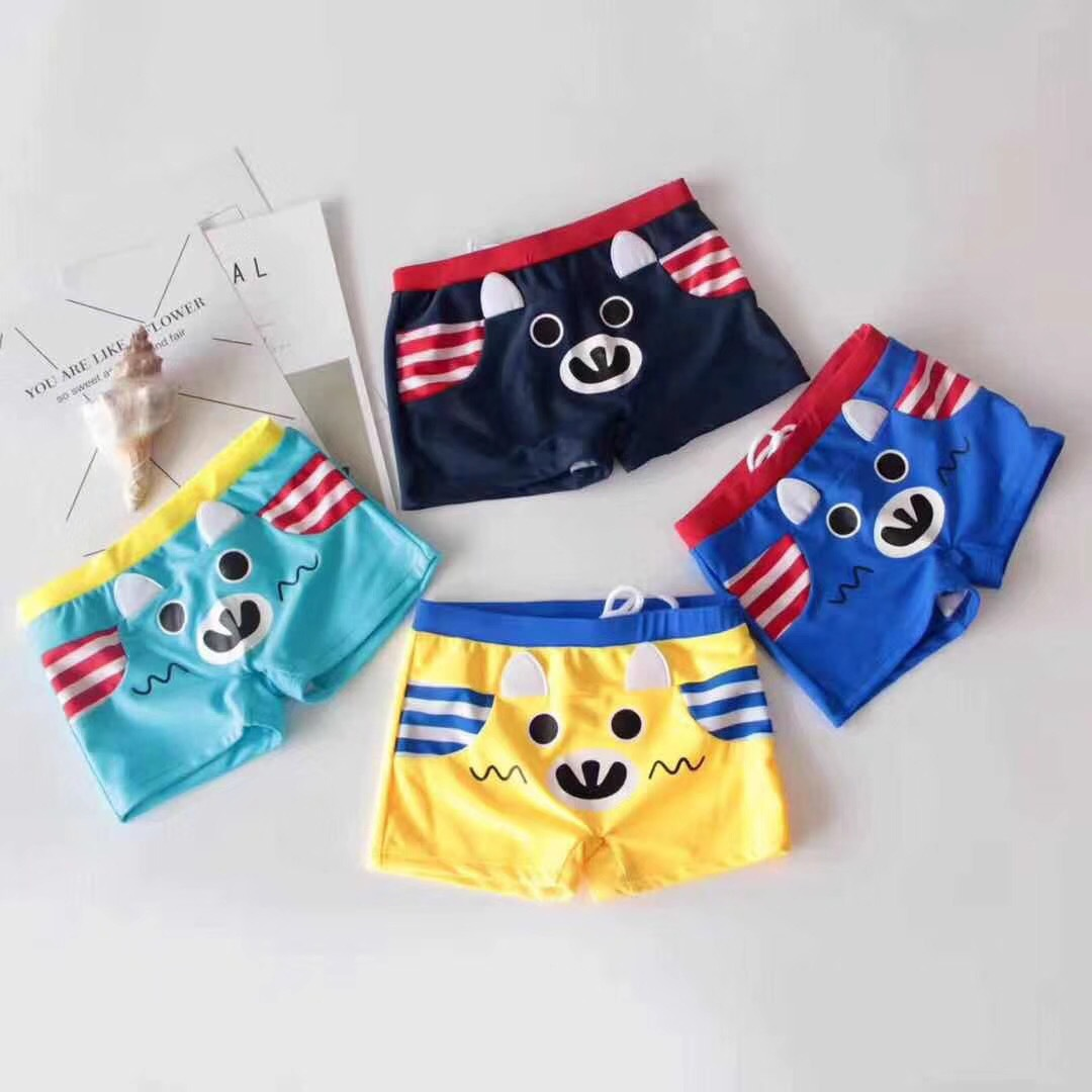New Style CHILDREN'S Swimming Trunks 4-7-Year-Old BOY'S Boxer Shorts South Korea-Style Cartoon Swimming Trunks 7348