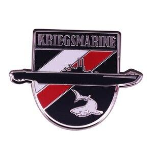 WW2 German Navy Submarine Badge Military History Jewelry