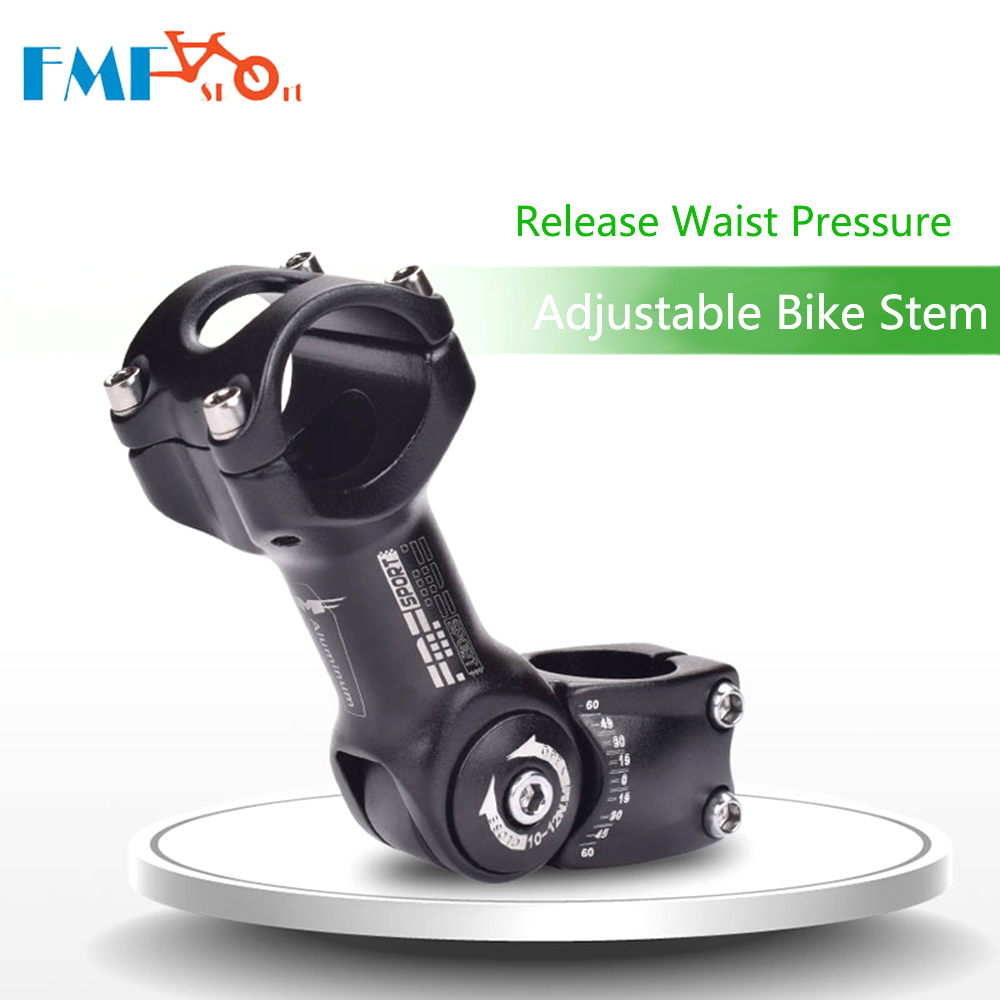 Регулируемый угол велосипеда 25,4/31,88 мм руль стержень стойка алюминиевый сплав передний держатель вилки адаптер горный велосипед стержень а...
