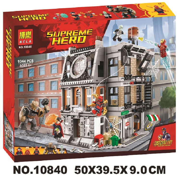 Bela 10840 Avengers Marveled Infinity War Super Sanctum Showdown Building Brick Block Toys with Lepining 76108
