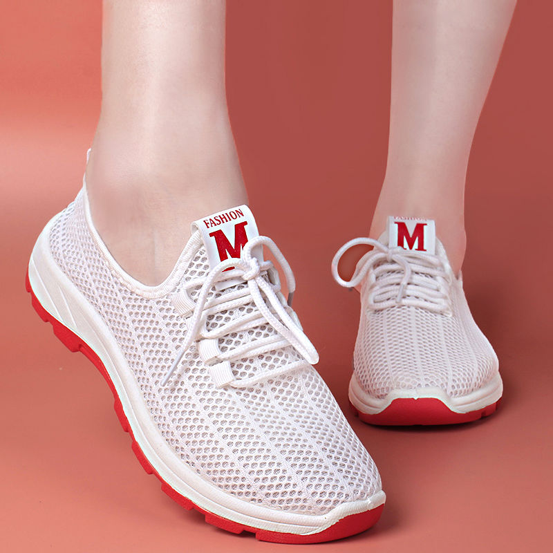 2020 Running Shoes For Women Lace-up Sneakers Breathable Air Mesh Women Fitness Gym Sports Shoes High Quality Athletic Footwear