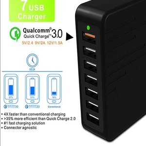 Image 2 - Cargador USB Multiple Charge Fast charging 7 Port Multi USB Charger Cargador USB Multiple Device Charging Chargeur Quick Charge