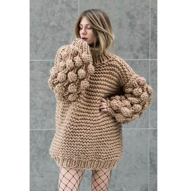 Hand Knitted Chic Handmade Ball Sweater2
