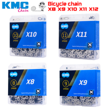 KMC Bicycle Chain 12 speed Mountain bike drive chains MTB road bike ketten X8 X9 X10 X11 EL  SL genuine kmc x8 x9 x10 x11 mtb bike chain 8 9 10 11 speed bicycle chain 116 links steel road bike chain with missing link