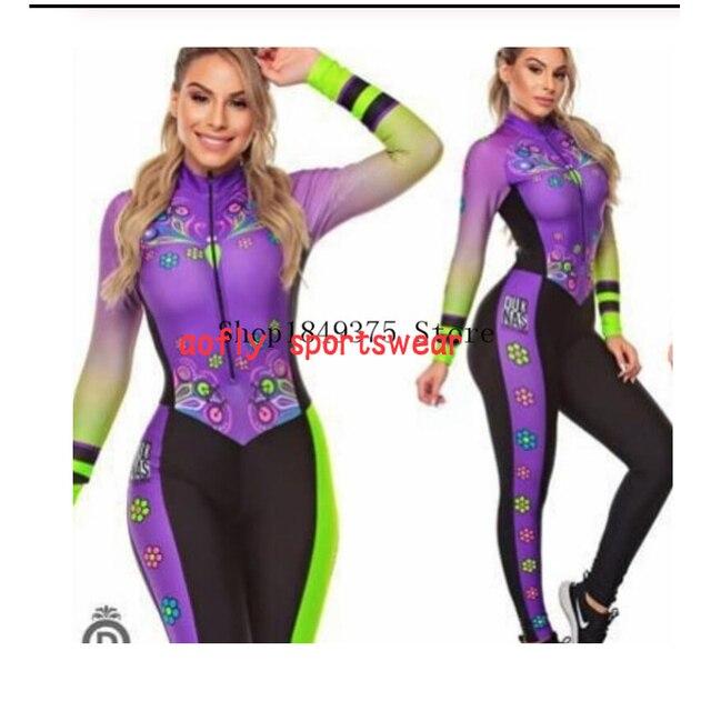 2020 feminino longo triathlon manga longa ciclismo skinsuit maillot ropa ciclismo casal conjuntos de camisa bicicleta macacão 16 cores macaquinho ciclismo feminino manga longa roupas femininas com frete gratis roupa de 4