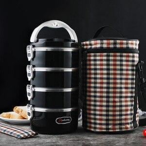Image 1 - Hot scatole di pranzo sano contenitori per alimenti bento scatole di metallo lunchboxes fornire impacchi caldi e benessere per i bambini delle scuole