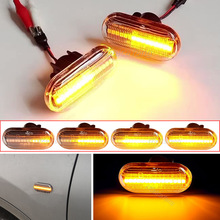 For Renault Clio 1 2 KANGOO MEGANE ESPACE TWINGO MASTER Led Dynamic Side Marker Turn Signal Light for Nissan Opel Smart FORTWO