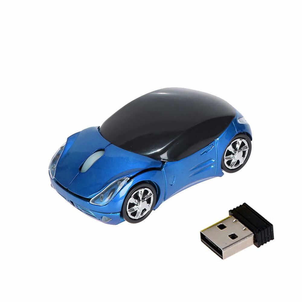 車の形状光学式ワイヤレスゲーミングマウス Sem Fio 2.4 2.4ghz のポータブルミニ USB スクロールマウスタブレットラップトップコンピュータ高品質