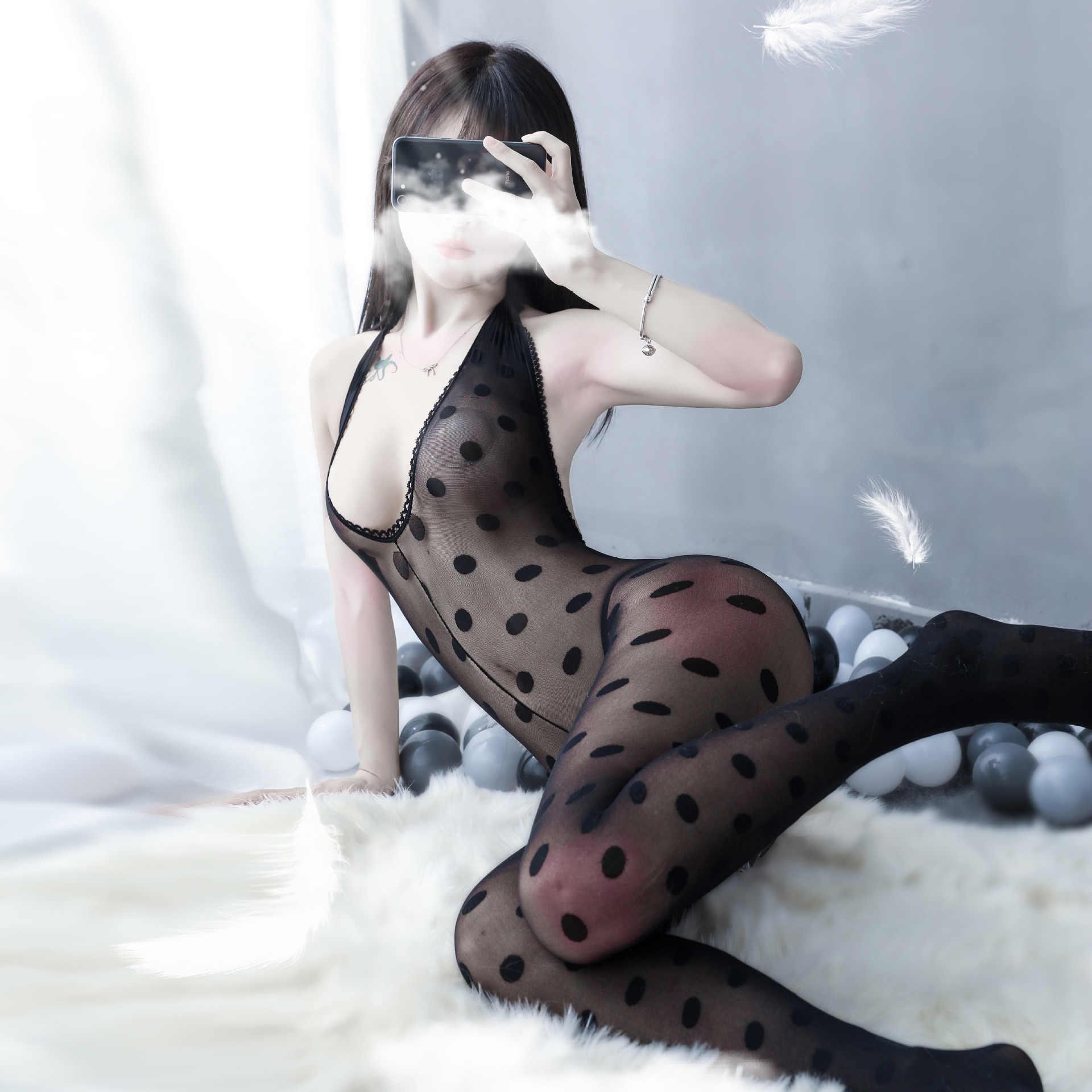 Pyjama Vrouwen Sexy Lingerie Porno Open Kruis Hollow Kousen Jarretellegordel Visnet Panty Transparante Panty Kous