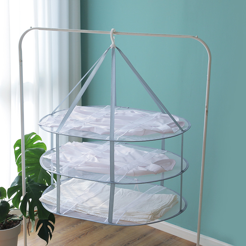 Clothes Basket Drying Net Clothes Flat Thick Net Pocket Home Drying Socks Artifact Sweater Special Drying Rack Laundry Rack