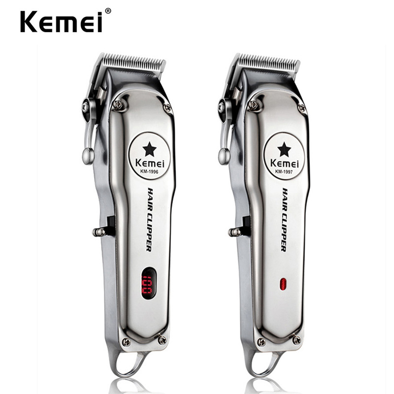 Kemei 1996 All-metal Professional Hair Clipper Electric Push Shear Cordless Hair Trimmer For Men Powerful Hair Cutting Machine