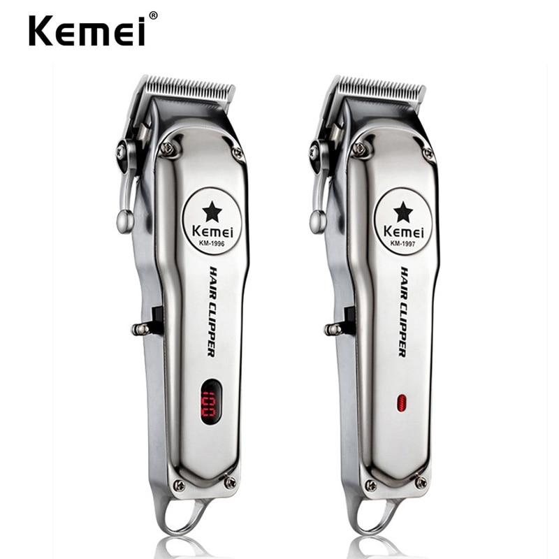 Kemei 1996 All-metal Professional Hair Clipper Electric Push Shear Cordless Hair Trimmer For Men Powerful Hair Cutting Machine