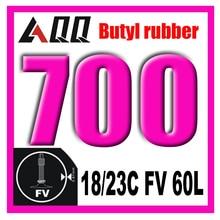 Велосипедная шина AQQ 700*18/23C 23/25C 28/32C 35/43C AV FV, внутренняя трубка для дорожного велосипеда, резиновые шины для велосипеда, внутренняя трубка 700c
