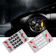 4 pieces Car styling door handle Stickers quattro Car Sticker gecko Car decals labels for Saab 9-3 9-5 900 9000 Scania etc.
