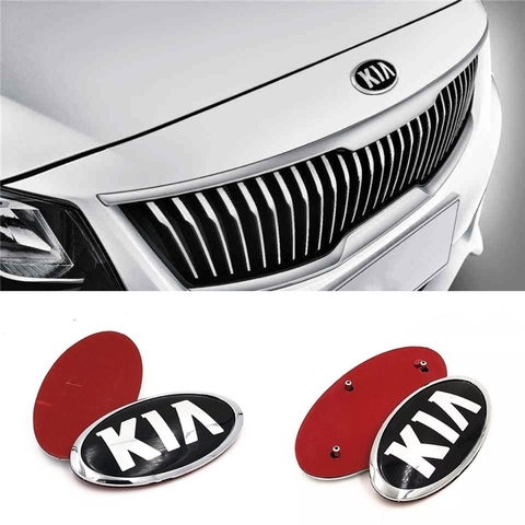 para kia k2 k3 kx3 k4 k5 cerato grade automatica frente tronco traseiro bagageira emblema