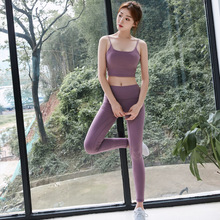2019 sports fitness clothing, new vest cross-back fashion casual sweat-absorbent and quick-drying sports. dancing.  bra set