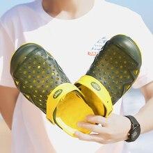 Оригинальные Классические Сабо; садовые Вьетнамки; водонепроницаемая обувь; мужские летние пляжные шлепанцы; открытые сандалии из ЭВА; садовая обувь
