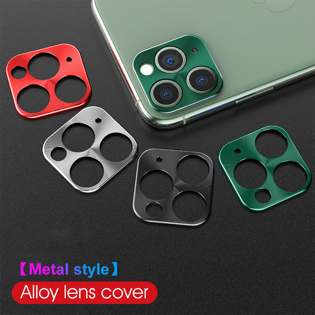 For iPhone 11 Pro Max Camera Protector Case On For iPhone 11 2019 11 Pro 11Pro Metal Rear Camera Lens Protective Ring Cover
