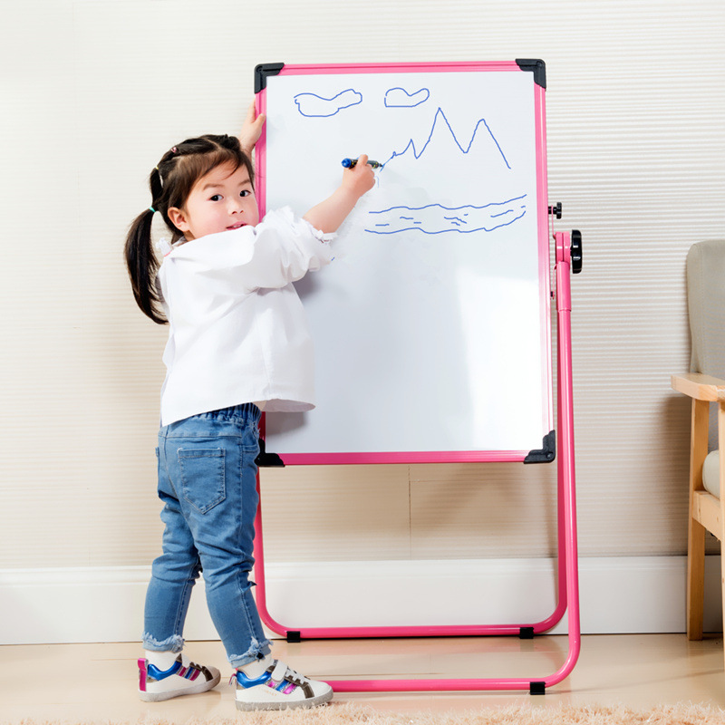 Children Drawing Board Easel Adjustable Double-Sided Magnetic Braced Small Blackboard Baby Kids Household Writing Whiteboard