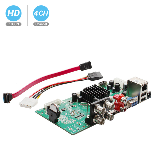 BESDER 4 CH 4 in 1 AHD DVR di Sicurezza di Sorveglianza CCTV Registratore DVR 4 Canali 1080N Hybrid Scheda DVR Per analogico AHD CVI TVI