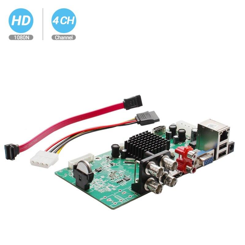 Besder 4 ch 4 em 1 ahd dvr dvr vigilância segurança cctv gravador dvr 4 canais 1080n híbrido dvr placa para analógico ahd cvi tvi