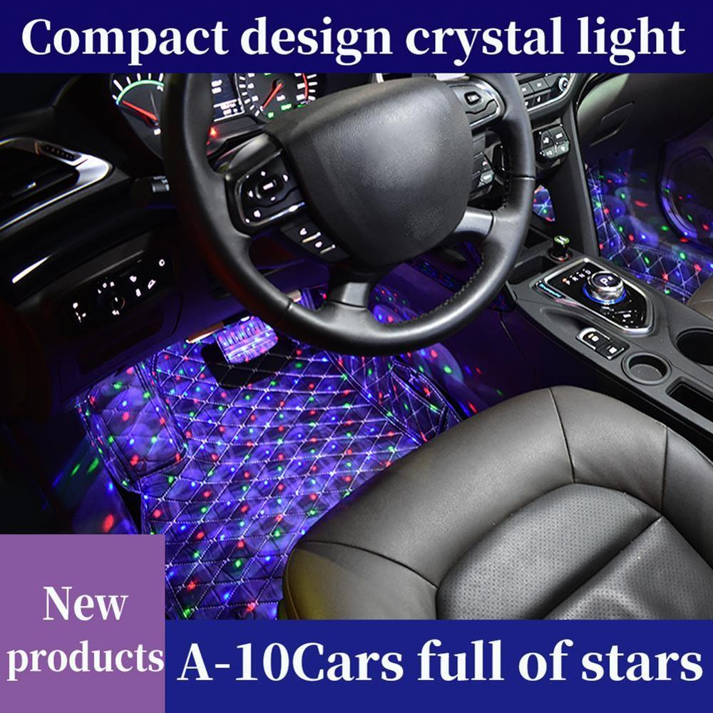 USB LED Car Atmosphere Ambient Star Light DJ RGB Colorful Music Sound Lamp Christmas Interior Decorative Light image