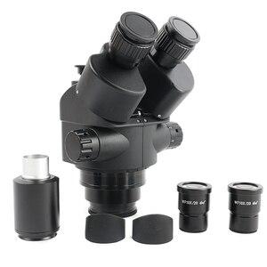 Image 3 - Microscope trinoculaire stéréo, simulateur de Foca, 3,5 x 90x144 LED déclairage annulaire, tapis de travail pour soudage et réparation de panneaux PCB
