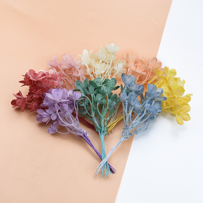 6PCS Artificial Plants Leaf Eucalyptus Leaves Wedding Bride Wrist Flower Material Accessories Clearance Vases For Home Decor DIY