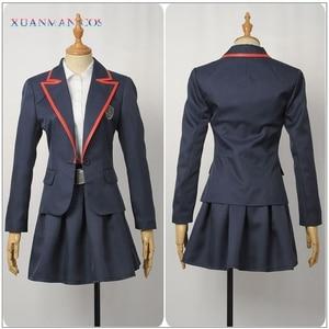 Image 3 - 엘리트 학교 제복 제복 성인 여성 자켓 셔츠 치마 Pleated JK 천을 TV 시리즈 코스프레 할로윈