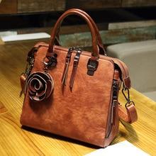 New fashion solid color soft leather handbag Joker shoulder Messenger flowers Large capacity purses and handbag PU Free shipping цена и фото