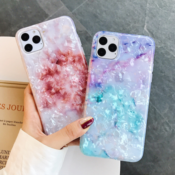 LOVECOM Phone Case For iPhone 11 Pro Max XR XS Max 6 6S 7 8 Plus X Dream Conch Glossy Marble Soft IMD Full Body Back Cover Gifts 2