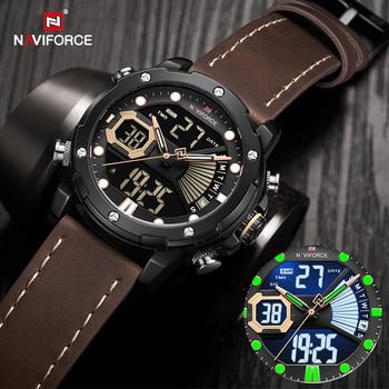 NAVIFORCE Watches Mens 2020 Luxury Military Sport Wateproof Quartz Wrist watch LED Digital Analog alarm Clock Relogios Masculino - discount item  50% OFF Men's Watches