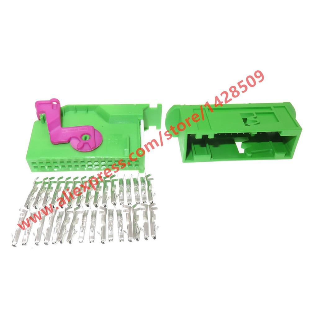 1 Kit 32 Pin 1J0972977C Automotive Ecu Connector For Audi VW Seat Skoda Instrument Dashboard Plug Connectors 1719057-1 1719058-1