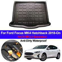 Car Rear Trunk Luggage Mat Cargo Tray Boot Liner For Ford Focus MK4 Hatchback 2018 2019 2020 Auto Carpet Protector Floor