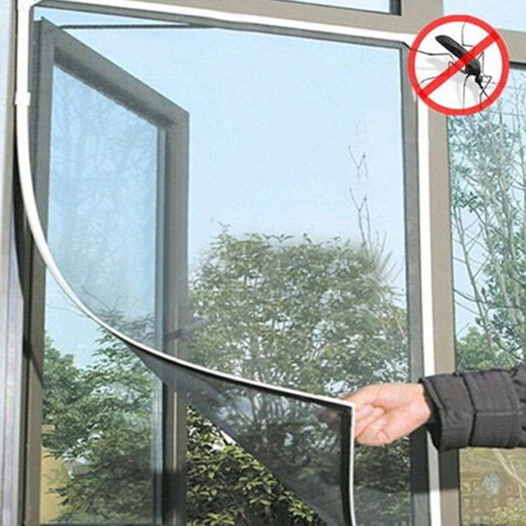 White Door Fly Mosquito Window Mesh Screen Indoor Insect Fly Screen Curtain Mesh Bug Mosquito Net Easy To Fit With Tape #YL10