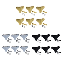6 Pack 4 String Bass Tuners Tuning Pegs Machine Head Button Knobs for PB JB Bass Parts