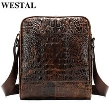 WESTAL men's shoulder bag genuine leather bag