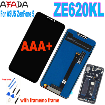 "Original 6.2"" For Asus Zenfone 5 2018 Gamme ZE620KL LCD Display Touch Screen Panel Digitizer Frame For Zenfone 5Z ZS620KL X00QD"