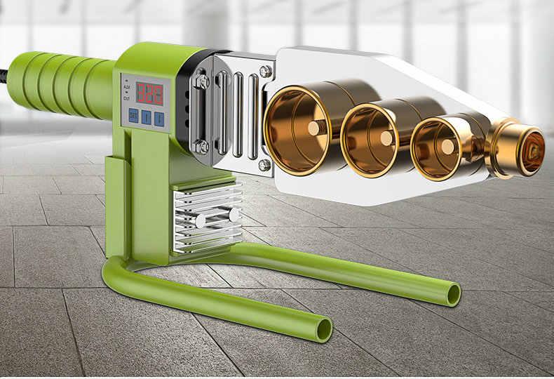 Tubo para termostato fusor digital AC220V, máquina de soldadura de tubería de agua, adecuado para materiales PPR/PE/PB, multi-Estilo Opcional