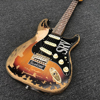 Chinese factories wholesale electric guitars,In Stock Custom Shop SRV Heavy Relic Electric Guitar Hand Made Free Shipping