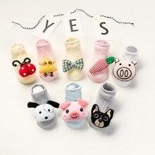 Baby socks rubber anti slip floor cartoon kids Toddlers autumn spring Fashion Animal newborn Cute 0-2 Y недорого