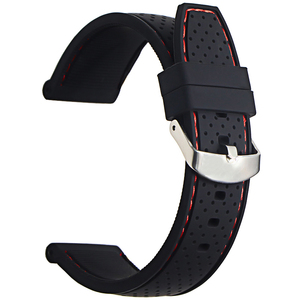Silicone Watchband 22mm Band Watch Accessories Strap Rubber Bracelet Belt Waterproof 2019 High Quality