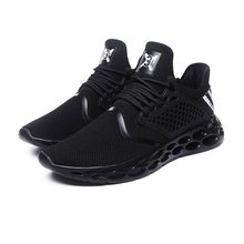 2019 New Running Sport Shoes Men Casual Black Sneaker Mesh Breathable Red Air Lightweight Comfort Walking Brand Fashion